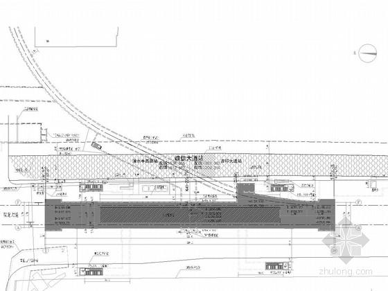 [江苏]10446平方米地下两层12m岛式站台带联络线车站图纸55张(2组风亭 4组出入口)