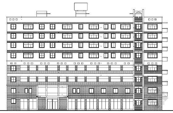 某五层办公综合楼建筑方案图