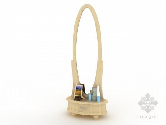 vr镜子材质资料下载-穿衣镜3d模型下载