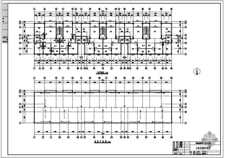 [学士]某六层商住楼毕业设计(含计算书、建筑结构设计图)