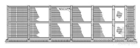 上海某大学网球场建筑方案图