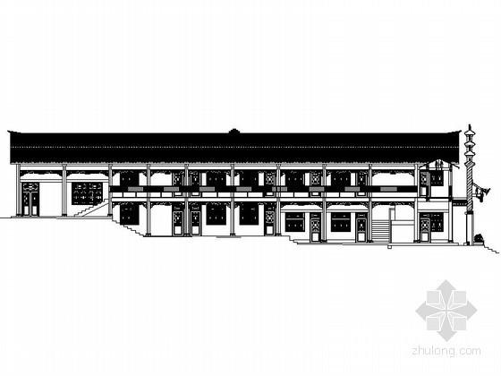 [仿古建]某二层服务用房建筑扩初图