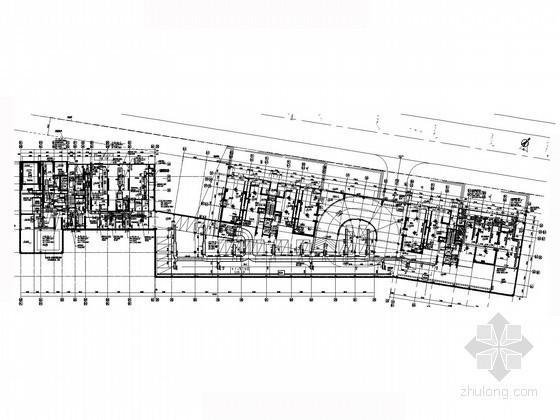 高层商住楼及商业街空调通风系统设计施工图(多种建筑 抽湿热泵)