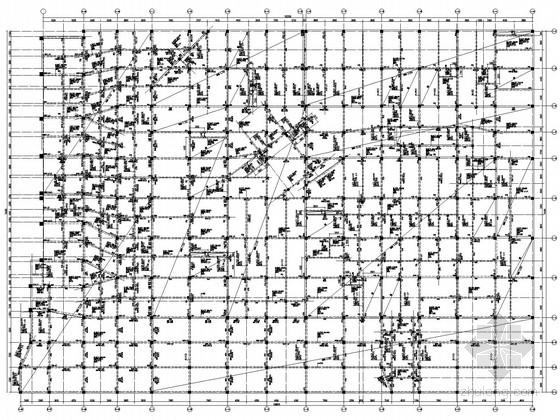 [郑州]地下商场框架结构体系施工图