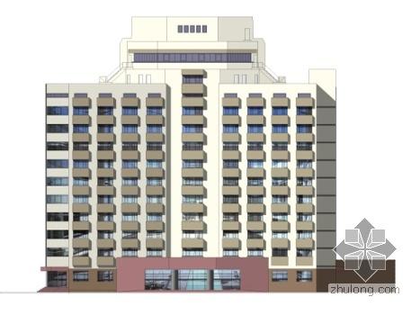 [北京]某宾馆外立面改造装修方案设计