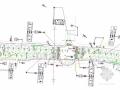 城市道路地面标志标线平面设计图