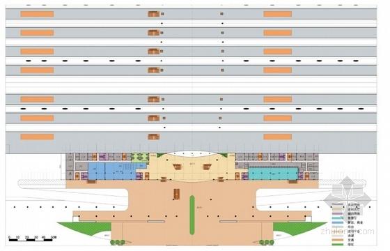 现代风格高铁站建筑设计平面图