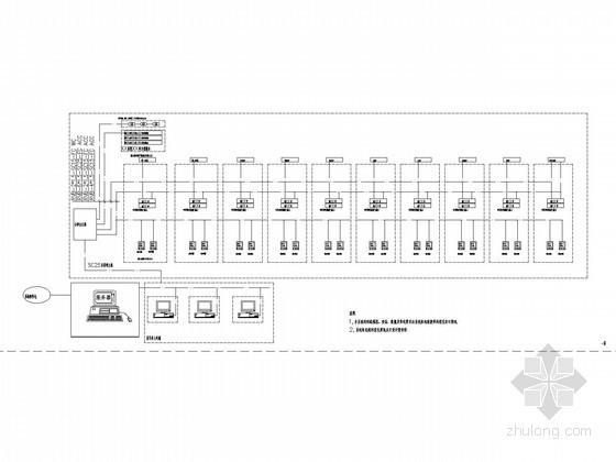 某中心医院康复中心及老干部病房楼电气施工图纸-电子排队系统图