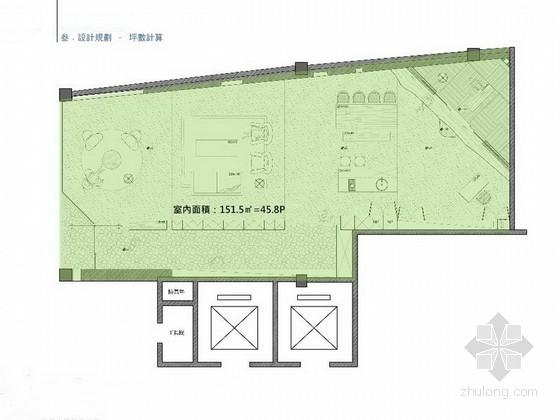 [广州]某艺术建筑公司旗舰店办公室室内概念方案