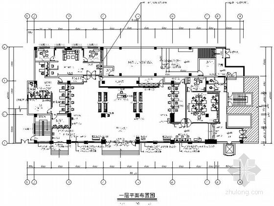 [湖南]某现代风格银行办公楼室内装修施工图