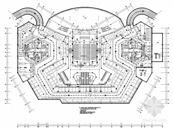 [武汉]大型多层办公楼全套电气施工图纸118张(机房工程)