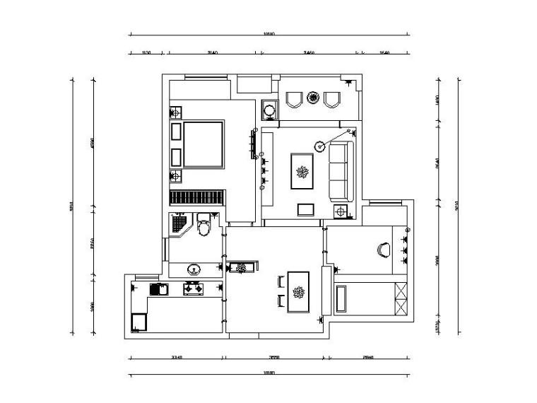[合肥]温馨舒适简约住宅室内设计CAD施工图(含效果图)