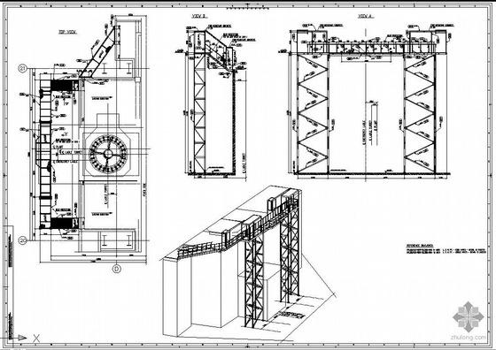 [英文]某滑门操作平台结构图
