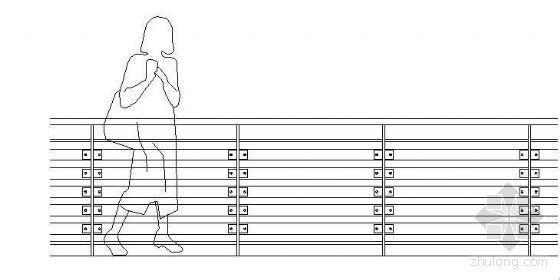某平台栏杆大样图
