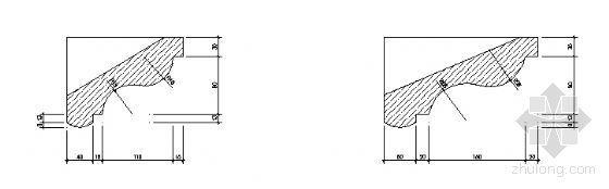 干挂石材幕墙节点图(窗套)