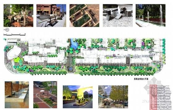 [江苏]新中式老街景观方案设计文本-放大平面图