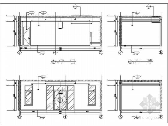 [河北]两层传统白墙黑瓦对称式四合院建筑设计施工图(含水暖电图纸)-两层传统白墙黑瓦对称式四合院建筑详图