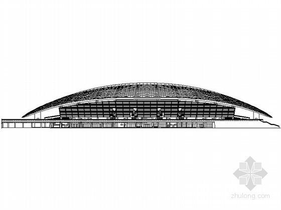 [四川]某现代五项赛事中心体育场建筑施工图