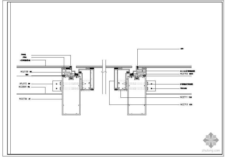 某隐框幕墙及铝塑板幕墙节点构造详图(一)_1