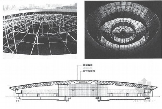 次索网支承屋面索穹顶结构性能和成型关键技术研究76页(硕士)
