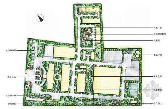 四川生物化工厂厂区环境景观设计方案
