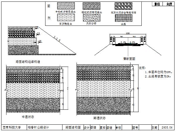 全长3.8KM双车道山岭重丘区二级公路(计算书64页,CAD图)
