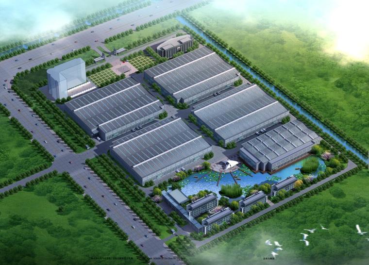 [安徽]现代风格新厂区企业办公楼地块规划设计方案文本及CAD施工图纸