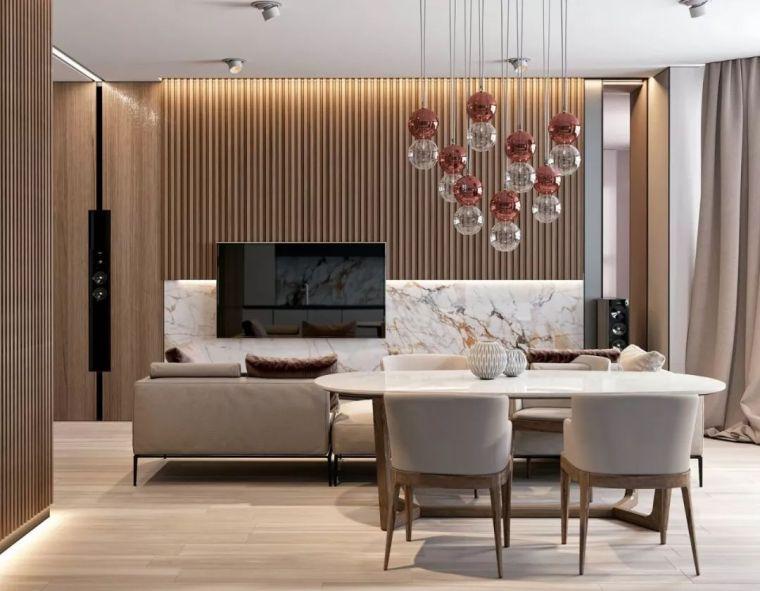 简约木制搭配奢华石材,让住宅散发暖色调的美!