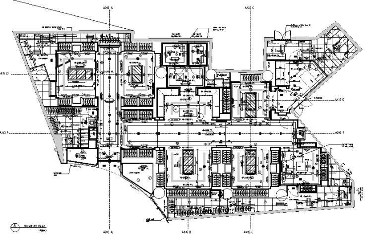 [上海]恒隆广场盟可睐Moncler专卖店设计施工图(附官方摄影图)-家具布置图