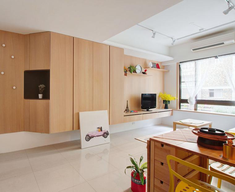 台湾:丰富靓丽的灵动公寓_1