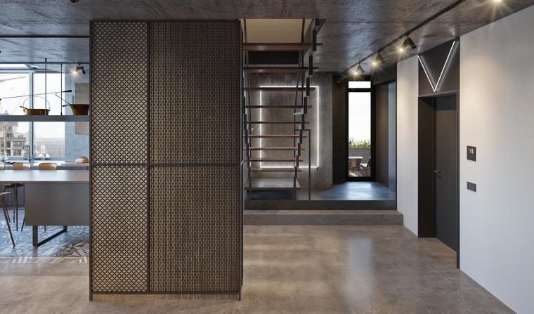 基辅工业风公寓:将厚重与轻盈完美平衡_6