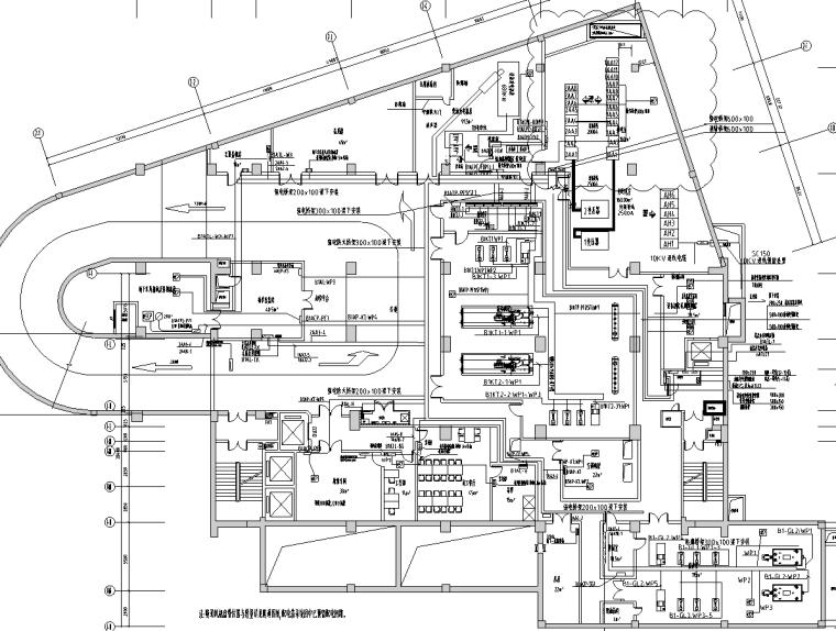 四川乐山大型度假酒店机电设备施工图