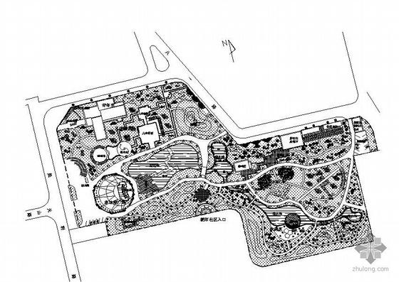 北京某公园总规划平面图