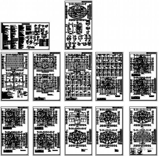 某17.5层剪力墙办公楼结构设计图