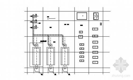 V型滤池工艺设计图资料下载-宁夏某燃气锅炉房工艺设计图