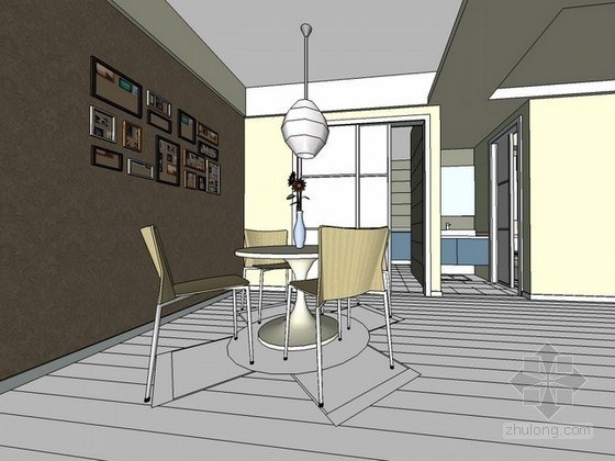现代风格室内场景sketchup模型