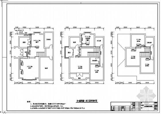 别墅中央空调平面图