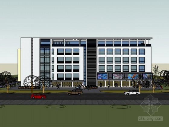 办公楼建筑sketchup模型