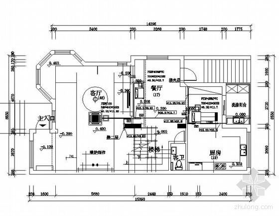 vrv空调施工平面图资料下载-某别墅VRV空调平面图