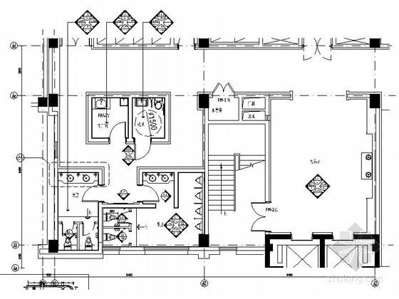 [安徽]国际酒店电梯厅室内装修图(含效果)