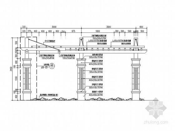 小型防腐木廊架施工图