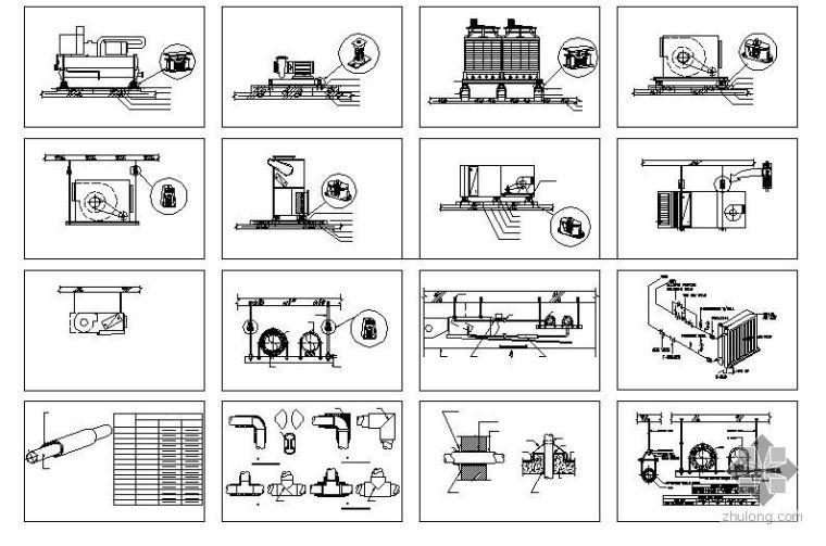 暖通设备、管道安装标准图
