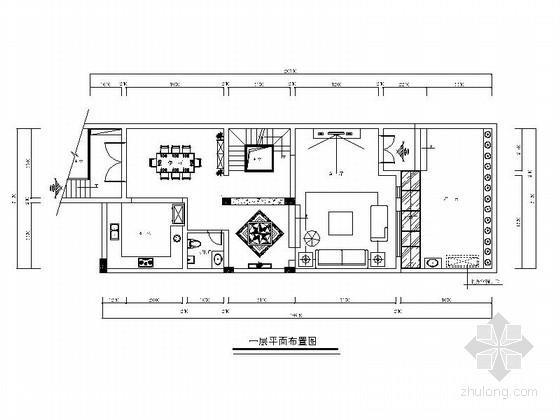 主卧,半次卧大样图  [宜兴]欧式风格五层别墅住宅cad施工图客厅立面