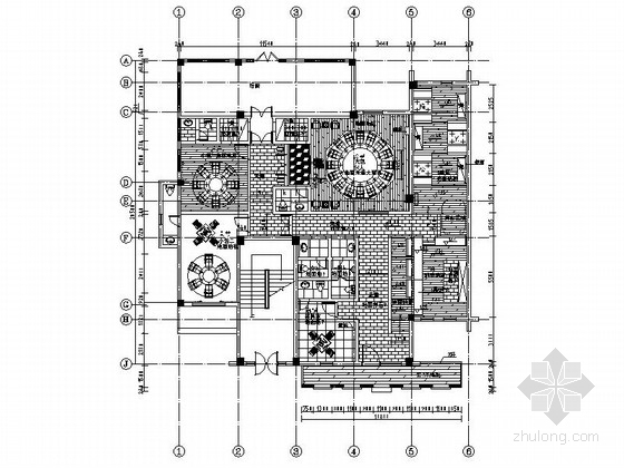 经典设计浓郁独特民国风餐厅CAD装修施工图(含效果)