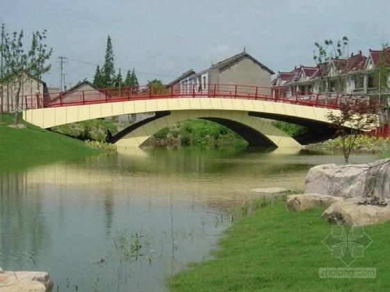 1x18m拱式斜撑景观拱桥施工图23张(国际著名桥梁公司)