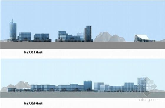 现代风格火车站片区城市设计方案立面图