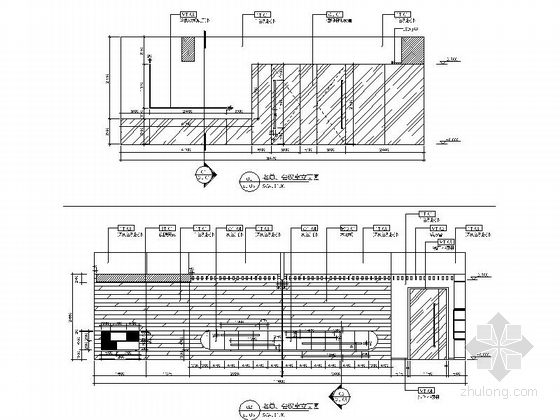 [江苏]新商业中心国际级现代办公空间装修设计施工图立面图