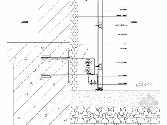 18层环保大楼幕墙施工图(明框玻璃幕墙铝板幕墙)-铝板幕墙底部收口节点