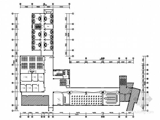 [原创]本科院校室内现代时尚走廊装修设计施工图(含效果)