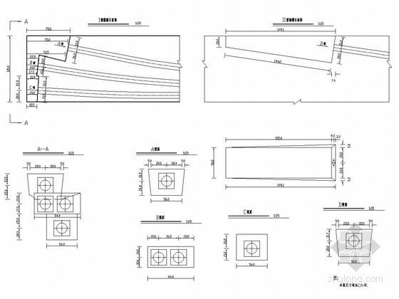 U型槽钢筋构造图资料下载-分离式立交桥锚槽构造详图